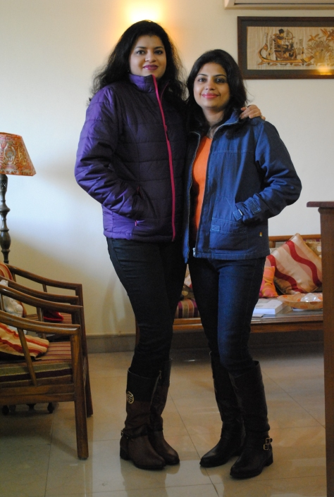 My sister and I. All set to go out!