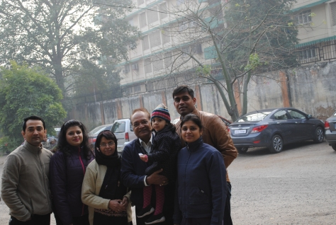 Just after family lunch!