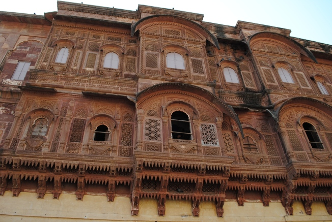 The 'Jharokha' - Royal women were not allowed to come out in public. they would see all the ceremonies from these small windows. These are everywhere in the quarters as they also keep the air circulation.