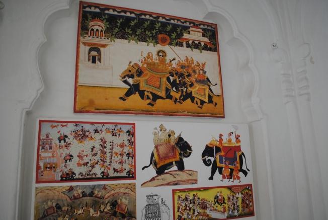 Paintings representing Elephant Howdas