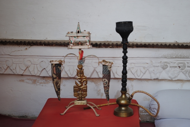 Opium or afim containers. Opium was considered auspicious and was an important part of the tradition