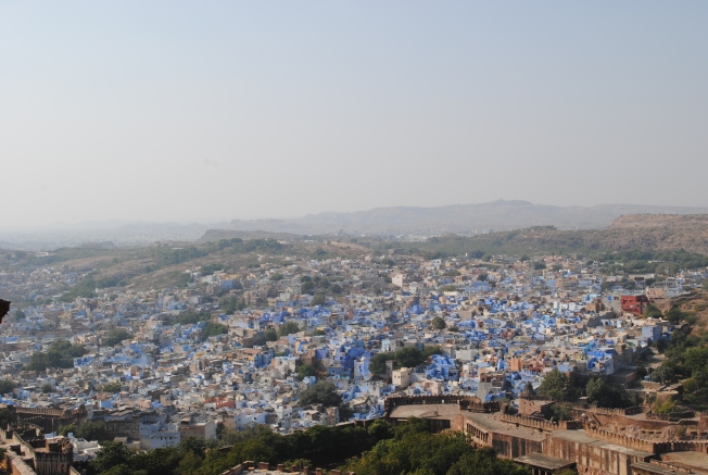 View of the Blue city.
