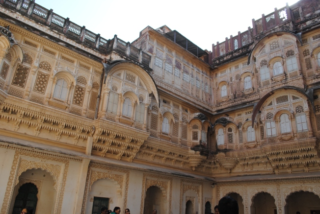 The Jhanki Mahal - This is were the royal ladies would see the processions