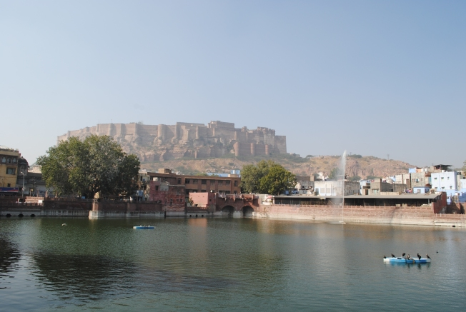 View of Mehrangarh Fort from the city