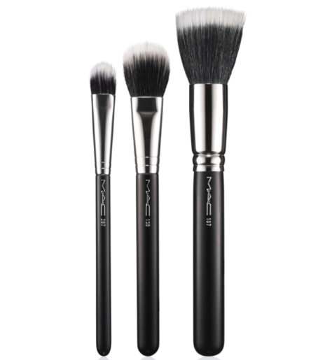 MAC Brushes in (L-R) 287 Duo Fibre Eye Shadow, 159 Duo Fibre Blush & 187 Duo Fibre Face