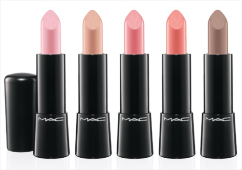 MAC Mineralize Rich Lipsticks in (L-R) Be Fabulous, Luxe Natural, Dreaminess, Style Surge & Touch the Earth