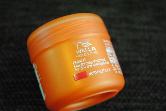 Wella Enrich Moisturizing Treatment for dry and damaged hair
