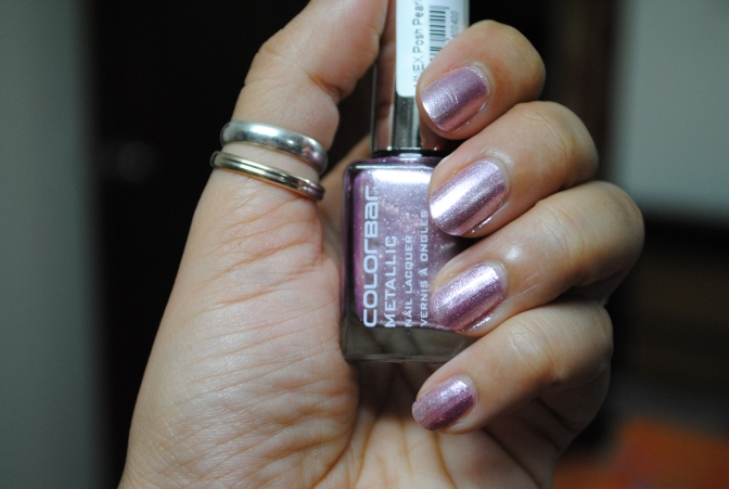 Weekend Manicure – Colorbar Metallic Nail Lacquer in Posh Pearl