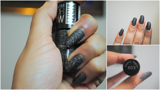 Mid-week manicure – Maybelline Color Show Glitter Mania (603) Starry Nights