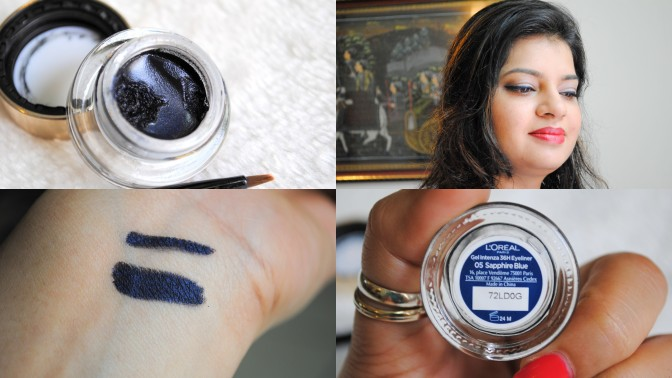L'Oreal Paris 36H Super Liner Gel Intenza Eyeliner in Sapphire Blue – Review and FOTD