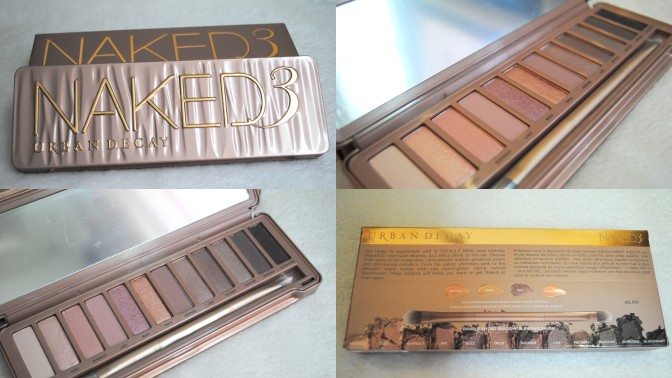 URBAN DECAY NAKED3 EYESHADOW PALETTE REVIEW