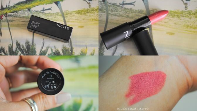 Note Rich Color Lipstick in 12 Sun Petal
